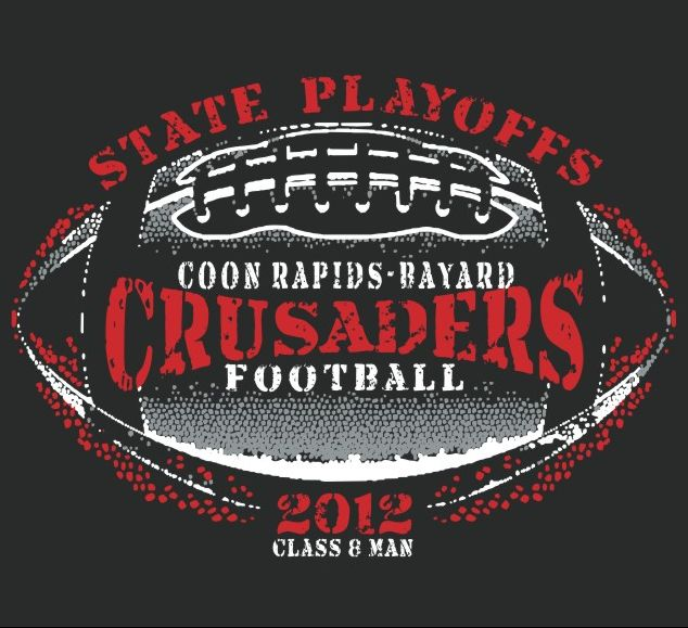 Coon Rapids Bayard Public Schools 2012 CRB Football Playoff Shirts Now On Sale