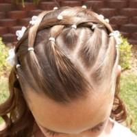 Peinados para niñas en  la primera comunión