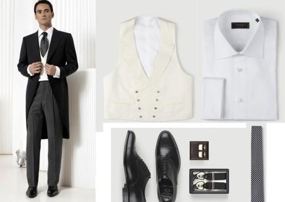 Recomendaciones de vestuario para el novio.