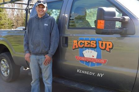 Steve Shelters, owner and project manager of Aces Up Construction of WNY, Inc.