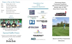 CRCF Golf Tournament Sponsorship and Player Registration Form 2016