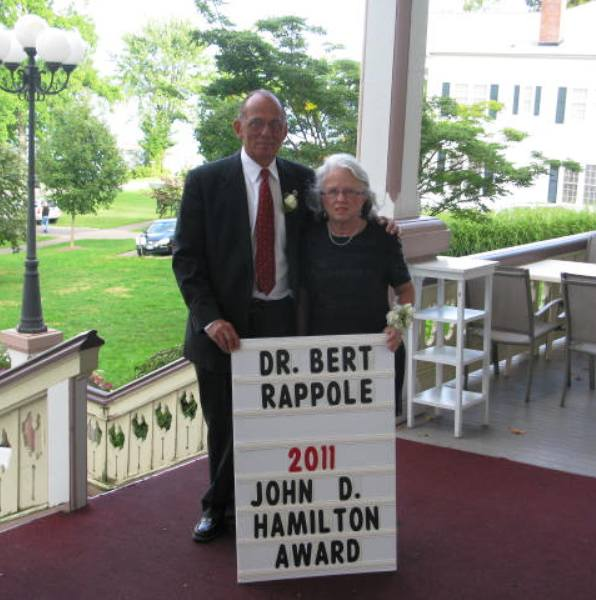 Dr. Rappole and his wife, Mary, at the 2011 John D. Hamilton Community Service Award dinner at Chautauqua Institution.