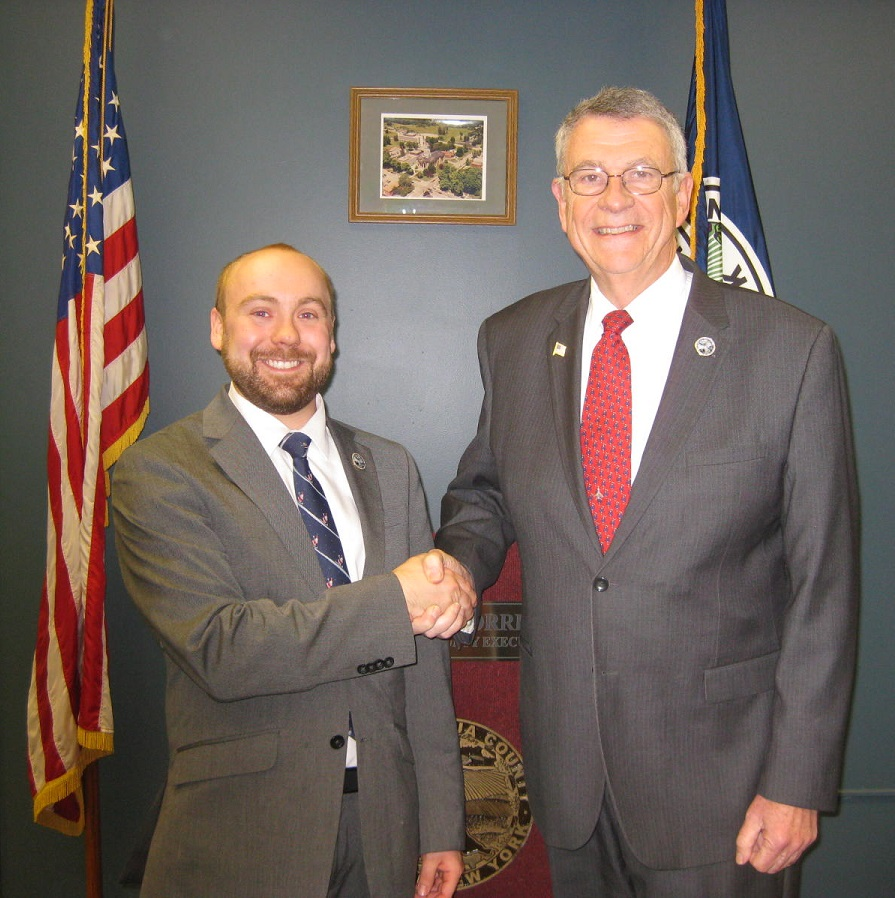 Dan Heitzenrater pictured with Chautauqua County Executive Vince Horrigan. Heitzenrater serves as Executive Assistant in the Office of the Chautauqua County Executive.