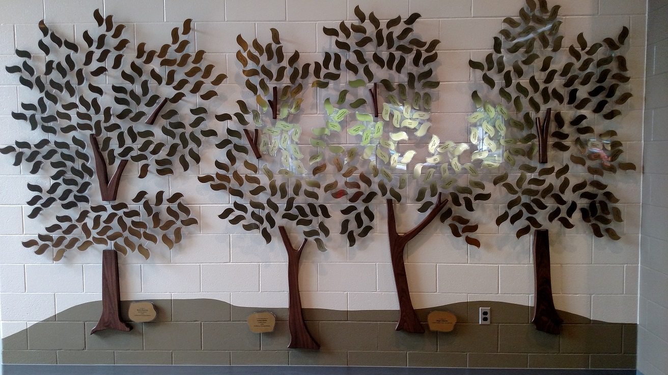 One of the legacy tree walls
