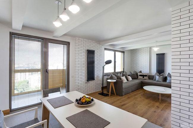 Un Appartement Gris Et Blanc