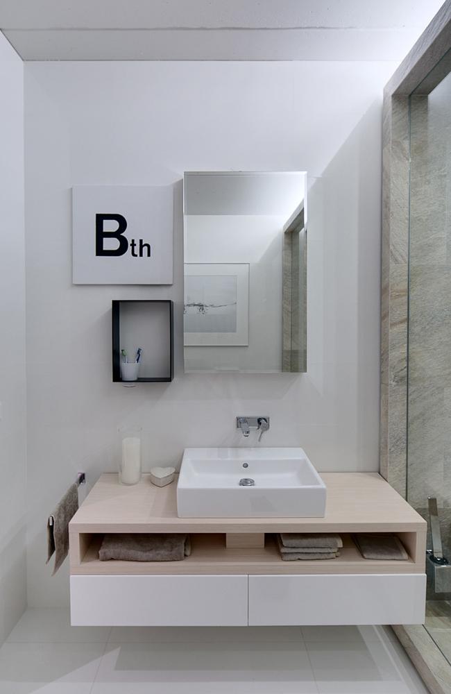 Salle De Bain Design Bois Et Blanc