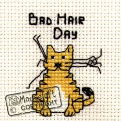 Bad Hair Day Mini Cross Stitch Kit-0