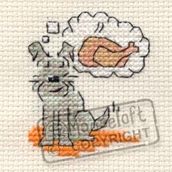 Little Dog Cross Stitch Kit - Daydreaming-0
