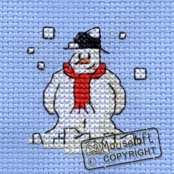 Christmas Cross Stitch Card Kit - Snowman-0