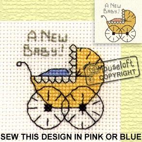 Occasions Cross Stitch Card Kit - Pram-0
