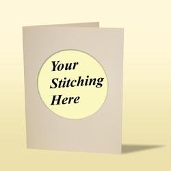 Cross Stitch Card - Linen Cream-0
