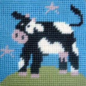 Children's Needlepoint Kit - Cow-0