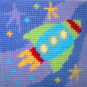 Children's Needlepoint Kit - Rocket-0