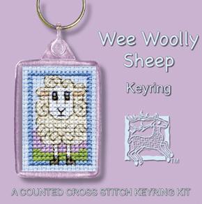 Cross Stitch Keyring Kits - Wee Woolly Sheep-0