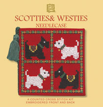 Scotties and Westies Cross Stitch Needlecase Kit-0