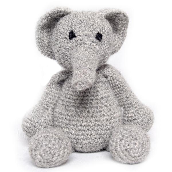 Crochet Kit Elephant Luxury 100/% wool /& alpaca kit Craft Christmas Gift