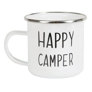 happy Camper enamel mug