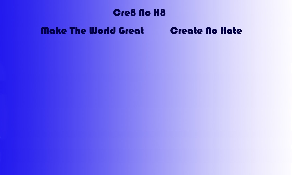 Make the World Great Create No Hate