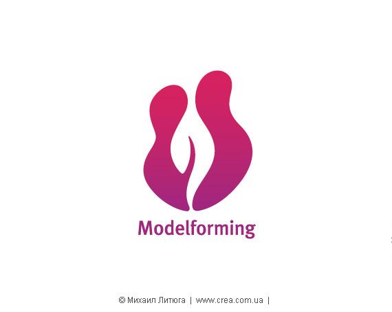 Дизайн логотипа для женской оздоровительной программы «Modelforming»