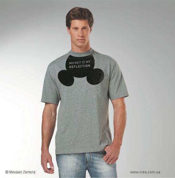 Вот он, проказливый демонстратор собственного Микки! — дизайн футболки на конкурс UNIQLO t-shirts design contest