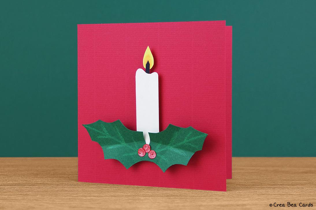 Christmas Candle Card Crea Bea Cards