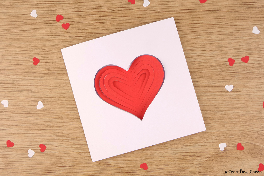DIY | Simple Papercut heart card