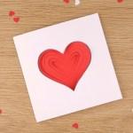 Simple Papercut Heart Card Crea Bea Cards