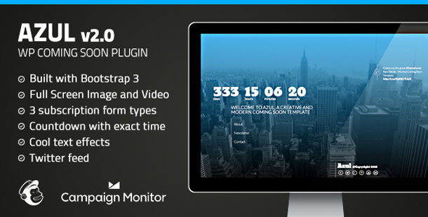 Azul - Responsive WordPress Coming Soon Plugin