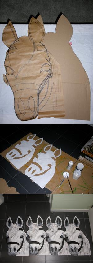 diseño caballos