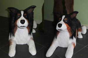 perro pastor de porexpan