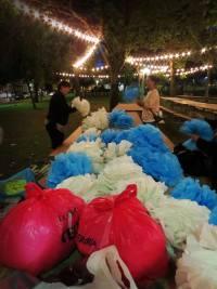 pompones plástico