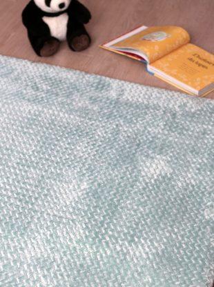 tapis enfant polaire minky vert menthe