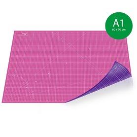 tapis de decoupe auto cicatrisant a1 60x90cm rose et violet