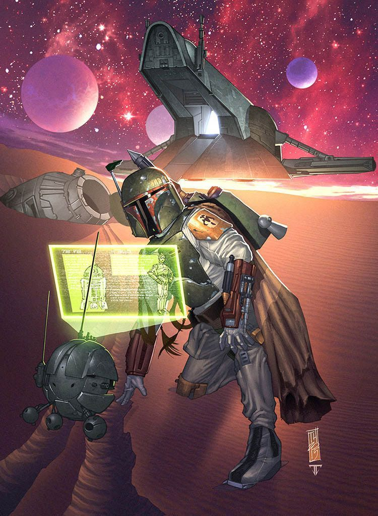 ilustraciones_star_wars_the_force_awakens_boba_fett_juan7fernandez