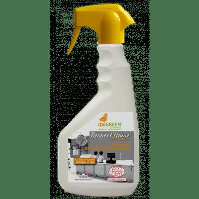 Nettoyant dégraissant désinfectant ecocert prêt à l'emploi des surfaces alimentaires Respect Home cuisine pulvérisateur 750ml