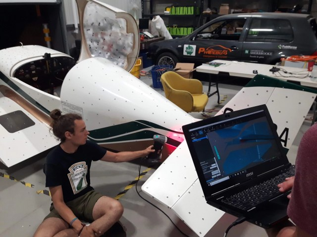 The team was able to get a high quality 3D model of the aircraft within one weekend to use in a CAD software