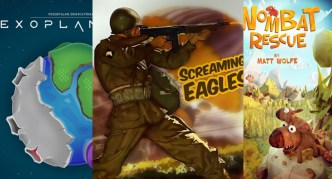 Exoplanets, Screaming Eagles, Wombat Rescue