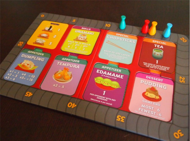 Sushi Go Party Menu