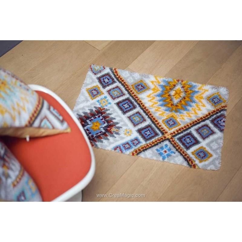 kit tapis point noue ethnique de vervaco