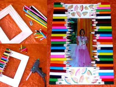 Cadre Crayons de couleur