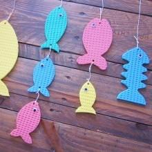 bricolage enfant poisson avril en éponge