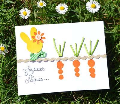 diy carte enfant Pâques empreintes doigts