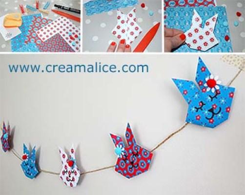 Guirlande Lapins Origami