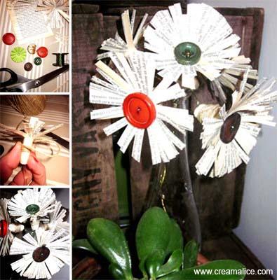 Fleurs Papier Récup'