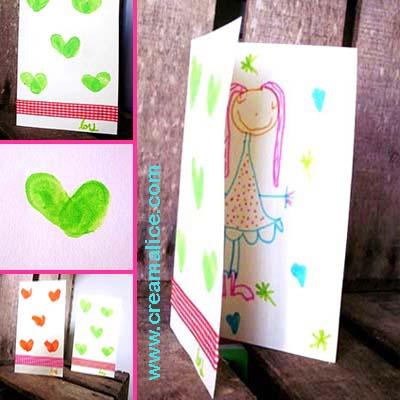 Carte Empreintes Coeurs