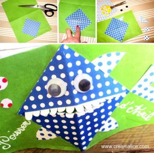 Carte Pop-Up Poisson