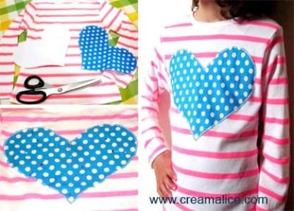Tee-shirt Appliqué Coeur