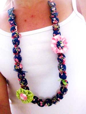 collier perle tissu liberty