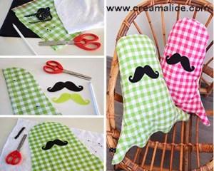 DIY Coussin Fantôme Moustache