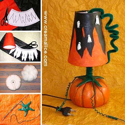 DIY Lampe Citrouille